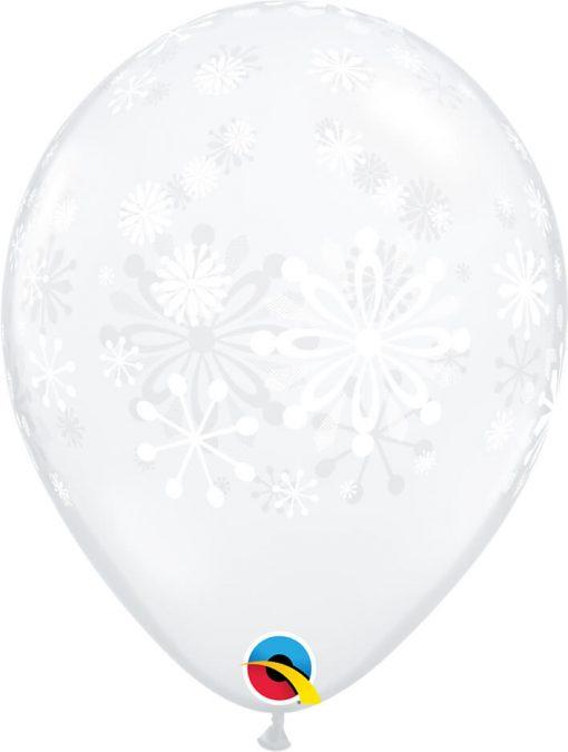 "11"" / 28cm Contemporary Snowflakes Diamond Clear Qualatex #79210-1"