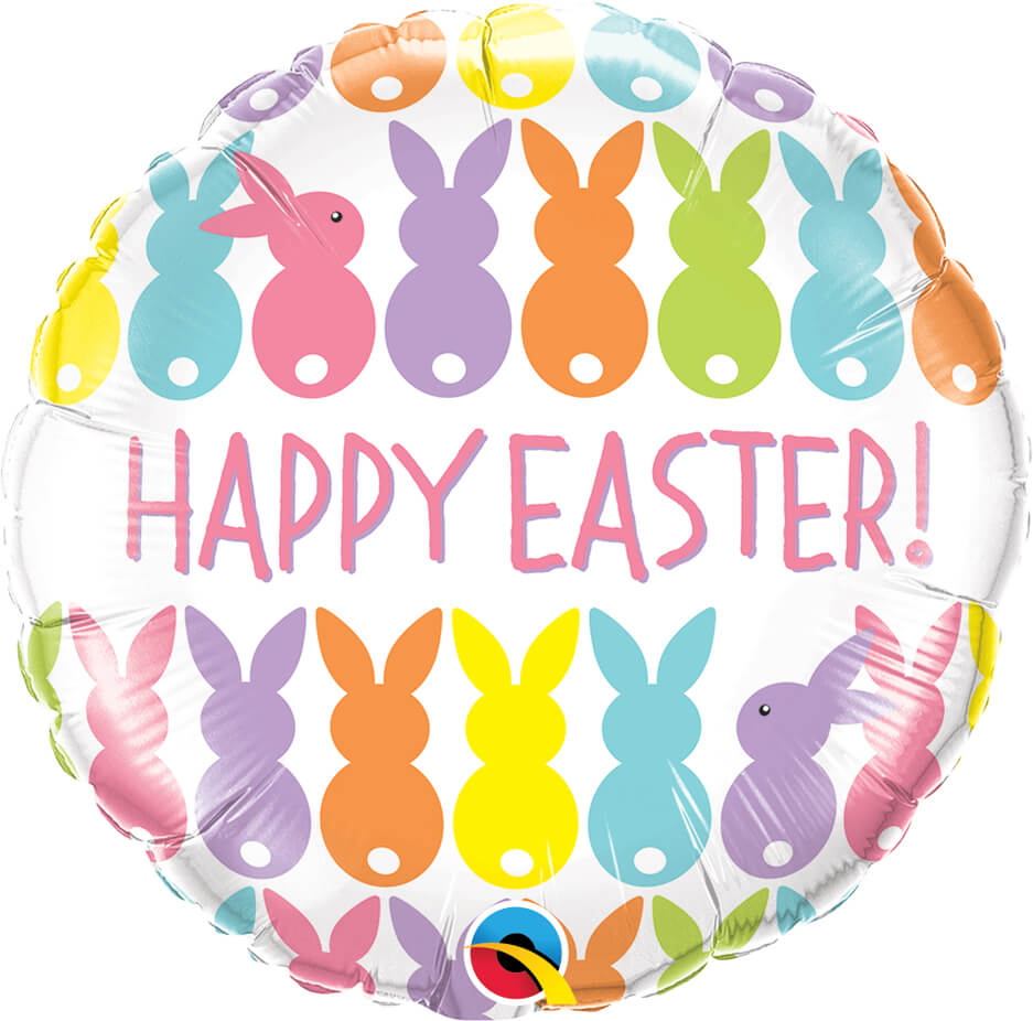 18″ / 46cm Easter Bunnies Line-Up Qualatex #82201