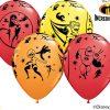 "12"" / 30cm 6szt Disney•Pixar The Incredibles 2 Asst of Red, Yellow, Orange Qualatex #84635"