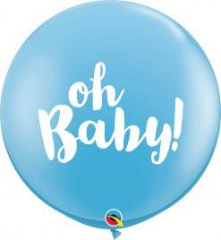 3' / 91cm Oh Baby! Pale Blue Qualatex #85830-1