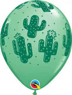 "11"" / 28cm 6szt Cactuses Asst of Lime Green, Wintergreen, Caribbean Blue Qualatex #86020"