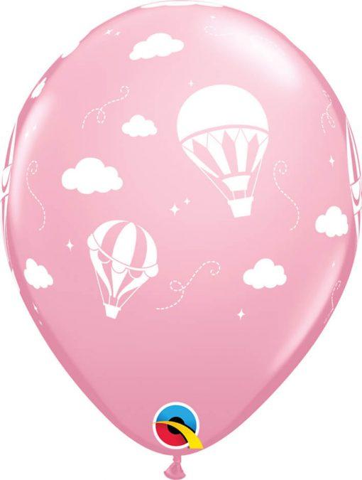 """11"""" / 28cm Hot Air Balloons Asst of Wild Berry, Pink Qualatex #86559-1"""