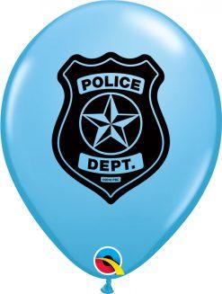 "11"" / 28cm Police Dept. Pale Blue Qualatex #86592-1"