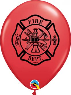 "11"" / 28cm Fire Dept. Red Qualatex #86598-1"