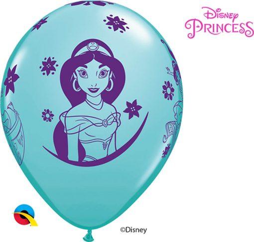 """11"""" / 28cm Disney Princess Jasmine Asst of Spring Lilac, Caribbean Blue, Rose Qualatex #87472-1"""