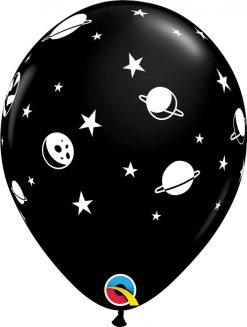 "11"" / 28cm Celestial Fun Asst of Navy, Onyx Black Qualatex #89443-1"
