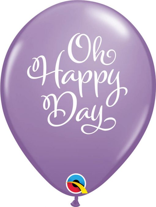 "11"" / 28cm Simply Oh Happy Day Bright Pastel Asst Qualatex #90961-1"
