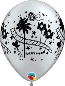 """11"""" / 28cm Hollywood Stars Silver Qualatex #92037-1"""