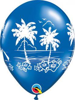 """11"""" / 28cm Tropical Vistas Fantasy Asst Qualatex #92516-1"""