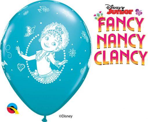 "11"" / 28cm Disney Fancy Nancy Clancy Asst of Wild Berry, Tropical Teal, Goldenrod Qualatex #92723-1"