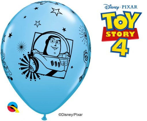 "11"" / 28cm Disney•Pixar Toy Story 4 Asst of Pale Blue, Spring Green, Goldenrod Qualatex #92783-1"
