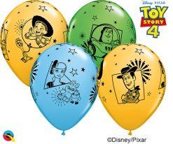 "12"" / 30cm 6szt Disney•Pixar Toy Story 4 Asst of Pale Blue, Spring Green, Goldenrod Qualatex #96644"