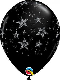 """11"""" / 28cm Glitter Stars & Stars-A-Round Qualatex #98534-1"""