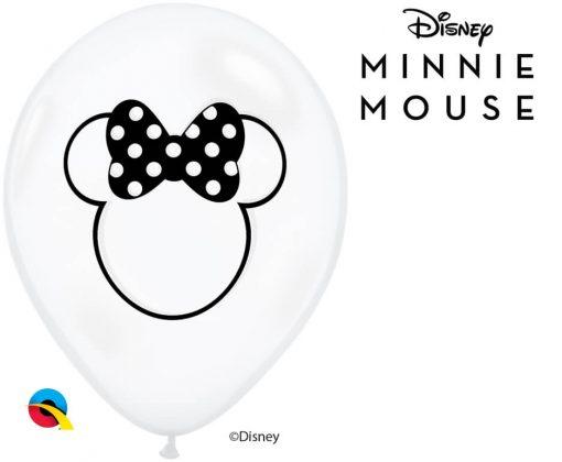 "11"" / 28cm Disney Minnie Mouse Silhouette Diamond Clear Qualatex #98994-1"