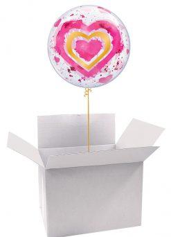 22″ / 56cm Poczta Balonowa Dla Mamy Classic z Balonem Bubble