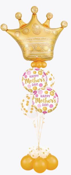 Bukiet 943 Royal Mother's Day Treatment Qualatex #49343 55830-2 56895-4 43749-4