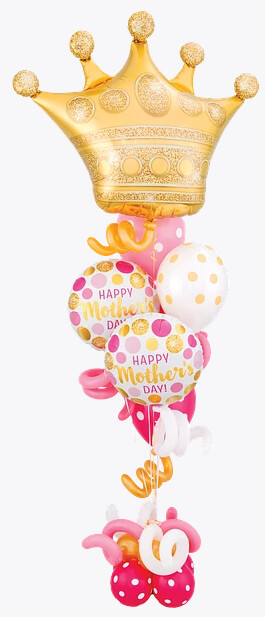Bukiet 945 Queen For A Mother's Day Qualatex #49343 55830-2 56895-1 54138-2 37225-4 62600-3 43913-4 43918-3