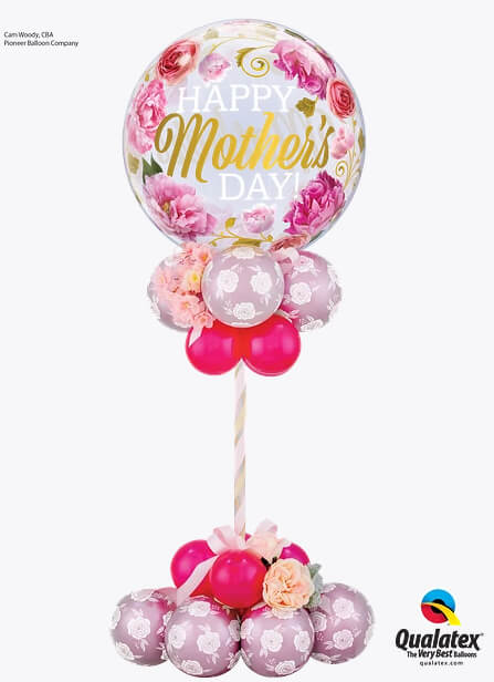 Bukiet 916 Mother's Day Spring Blossom Centerpiece Qualatex #82541 85640-8 25572-8