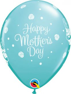 """11"""" / 28cm Mother's Day Cupcakes Asst of Spring Lilac, Caribbean Blue, Rose Qualatex #11978-1"""