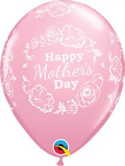 """11"""" / 28cm Mother's Day Floral Damask Asst of Wild Berry, Pink Qualatex #12036-1"""