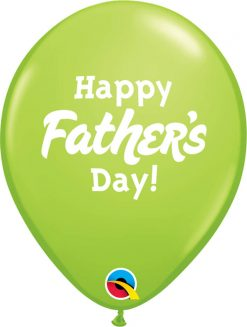 """11"""" / 28cm Happy Father's Day Asst of Red, Lime Green, Dark Blue Qualatex #24362-1"""