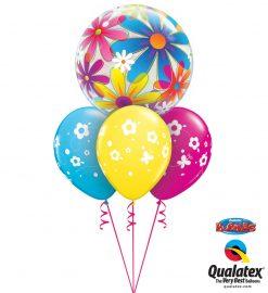 Bukiet 951 Fanciful Daisies & Butterflies Qualatex #32302 85065-3