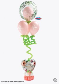 Bukiet 933 Floral Finery for Mother's Day Qualatex #85832 85772-4 82207 79696-1 57340-4 43597-4