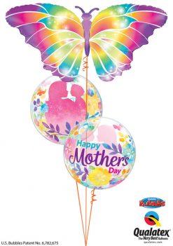 Bukiet 912 Rainbow Butterfly Mother's Day Qualatex #55581 11656