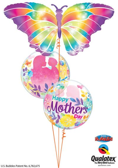 Bukiet 912 Rainbow Butterfly Mother's Day Qualatex #55581 11656