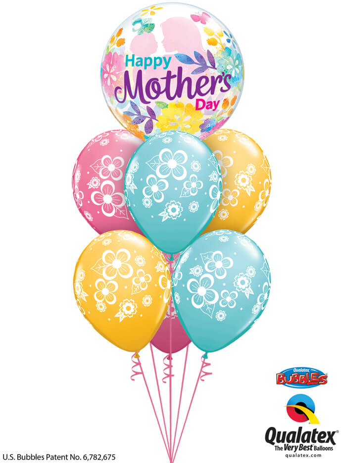 Bukiet 909 Hugs and Flowers Mother's Day Qualatex #55581 48370-6