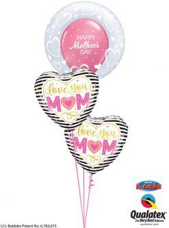 Bukiet 930 Show Mom Your Heart Qualatex #29505 55824-2 57182-1