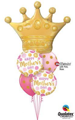 Bukiet 944 Mother's Day Queen Qualatex #49343 55830-2 56895-2 43791-1 43766-1