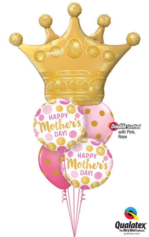 Bukiet 944 Mother's Day Queen Qualatex #49343 55830-2 56895-2 43791-1 43766-1