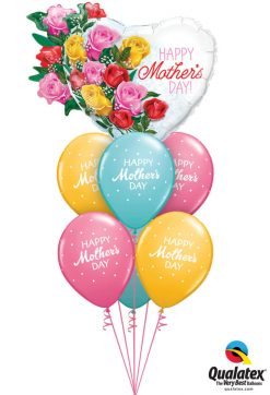 Bukiet 940 Rosy Mother's Day Qualatex #55882 57182-6