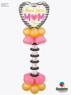 Bukiet 935 Mother's Day Stylish Stripes Qualatex #55824 43749-8 43727-8 75451-1 43907-6
