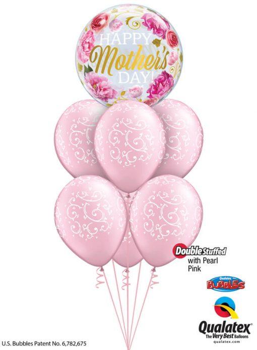 Bukiet 914 Pearl Pink Mother's Day Filigree Qualatex #82541 22396-6 43783-6