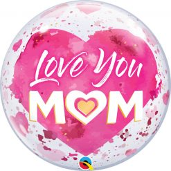 22″ / 56cm Love You M(HEART)M Pink Qualatex #82542