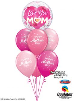 Bukiet 904 Big Heart Mother's Day Qualatex #82542 85704-6 43791-2 43766-2 25572-2