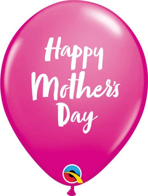 "11"" / 28cm Mother's Day Script Asst of Wild Berry, Pink Qualatex #85681-1"