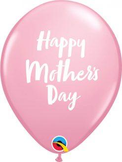 "11"" / 28cm 6szt Mother's Day Script Pink Qualatex #85772"