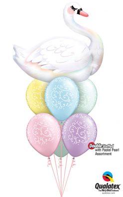 Bukiet 953 Serene Swan Qualatex #87971 22396-6 43755-6