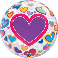 22″ / 56cm M(Heart)M Day Big Hearts Qualatex #98326