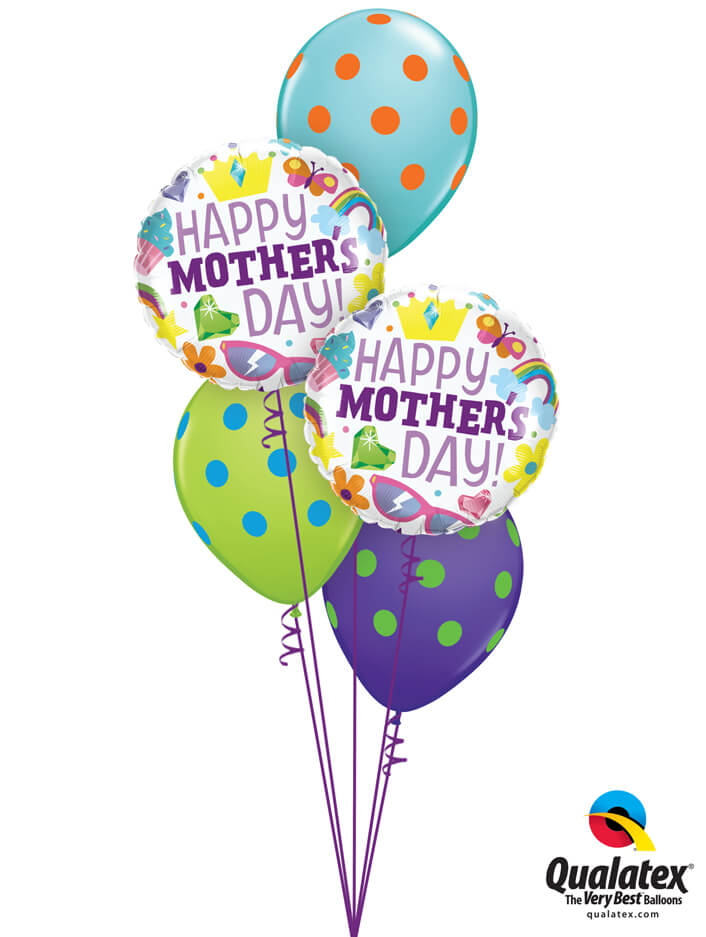 Bukiet 901 Mom, You're The Best! Qualatex #98425-2 10240-3