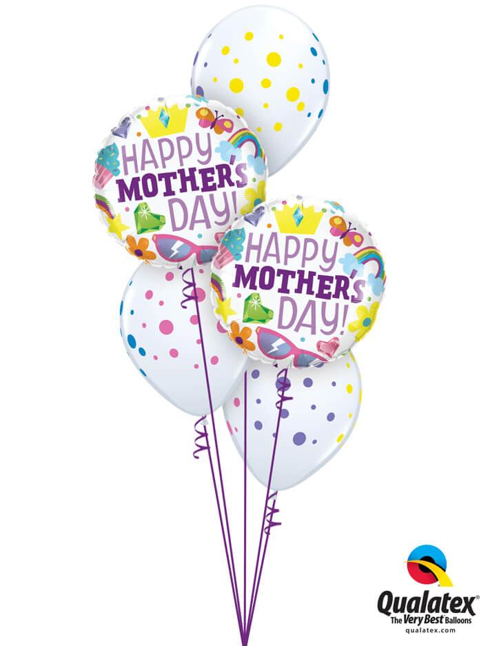 Bukiet 895 Wishing You a Beautiful Mother's Day! Qualatex #98425-2 88217-3
