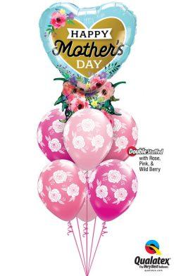 Bukiet 927 For a Wonderful Mom Qualatex #98515 85640-6 43791-2 25999-2 43766-2