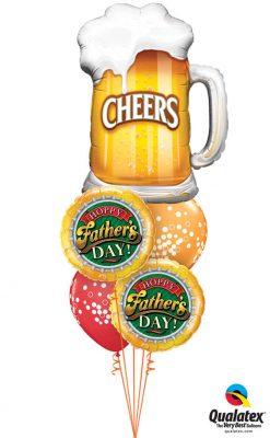 """Bukiet 997 """"Hoppy Father's Day!"""" Qualatex #23488 82297-2 52964-2"""