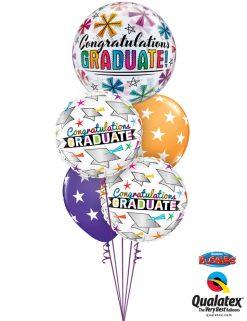 Bukiet 967 Shimmering Graduation Stars Qualatex #47364 47520-2 37052-2