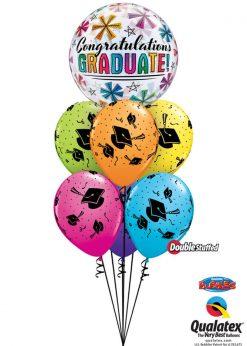 Bukiet 966 Time to Celebrate Grad! Qualatex #47364 41544 48955 43791 43761 43804 82699 82685