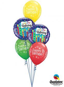 Bukiet 971 Colorful Birthday Candles Qualatex #49037-2 52963-3