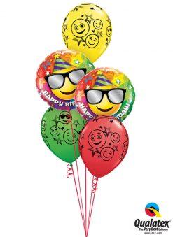Bukiet 968 Birthday Smiles and Sunglassess Qualatex #49057-2 52960-3